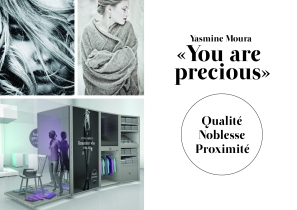 Le but du concept « You are precious » est de faire disparaître l'aspect commercial en mettant le consommateur au centre de l'attention. Pour ce faire, les collections d'articles en cachemire de la marque sont présentées par personnalités, de manière à correspondre à chaque individu. Ainsi, chacun se reconnaît dans les produits de la marque. Yasmine Moura